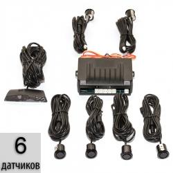 Парктроники на 6 датчиков (4 задних, 2 передних)