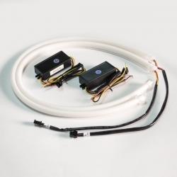DRL - 2311 60см бел/оранж SUPER LED (Бегущи повор)