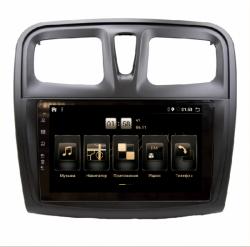 "Штатная магнитола  Renault Sandero 14-17 9"" BX 4/64 Android 10"